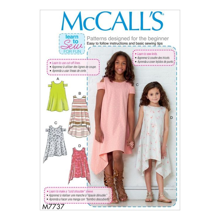 McCall's Pattern M7737 Learn To Sew For Fun Children's/Girls' Dresses