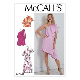 McCall's Pattern M7741 Misses' Top, Dresses And Belt