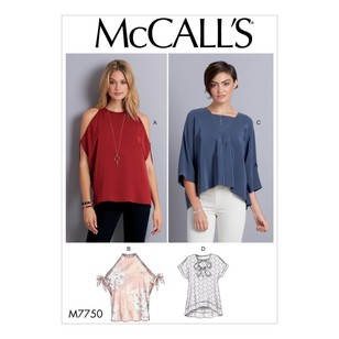 McCall's Pattern M7750 Misses' Tops