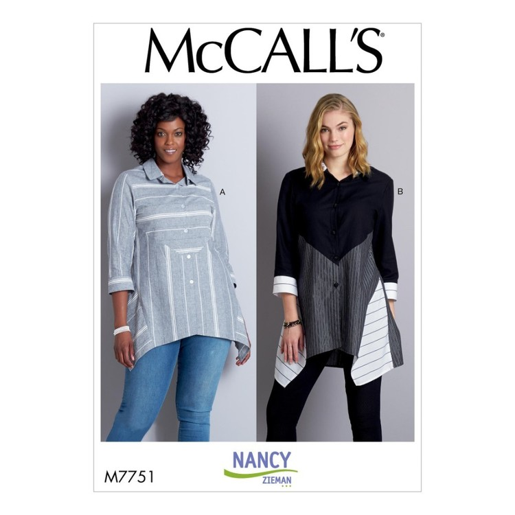 McCall's Pattern M7751 Nancy Zieman Misses' Shirts
