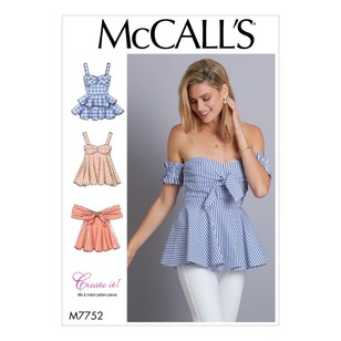 McCall's Pattern M7752 Create It! Misses Tops