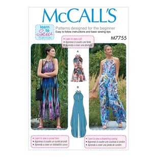 McCall's Pattern M7755 Learn To Sew For Fun Misses' Romper, Jumpsuits And Belt