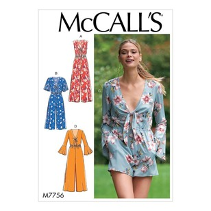 McCall's Pattern M7756 Misses' Jumpsuits And Romper