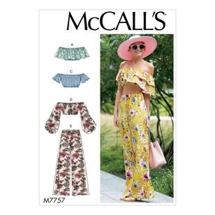McCall's Pattern M7757 Misses' Tops And Pants