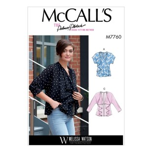 McCall's Pattern M7760 Melissa Watson For Palmer / Pletsch Misses' Vest And Jackets