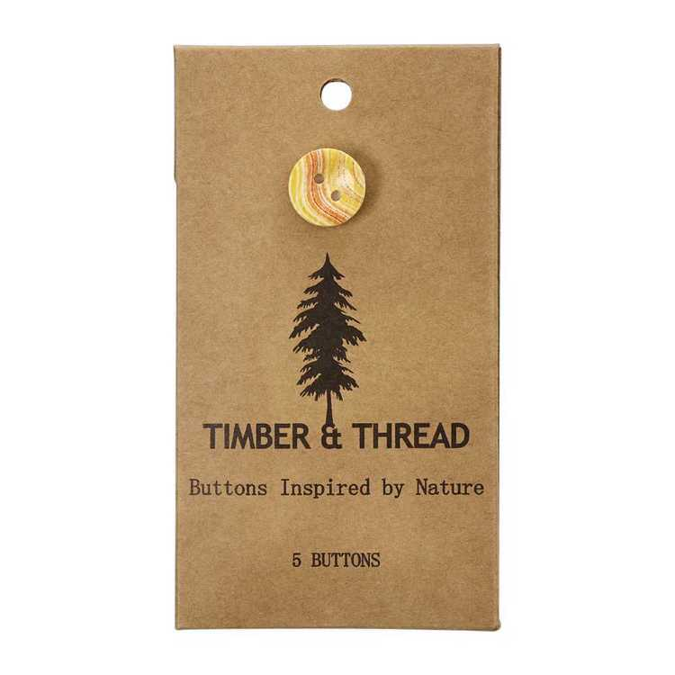 Timber & Thread Buttons Style 8
