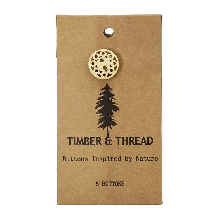 Timber & Thread Buttons Style 14