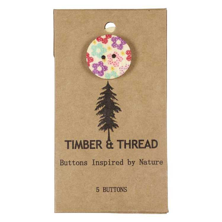 Timber & Thread Buttons Style 20