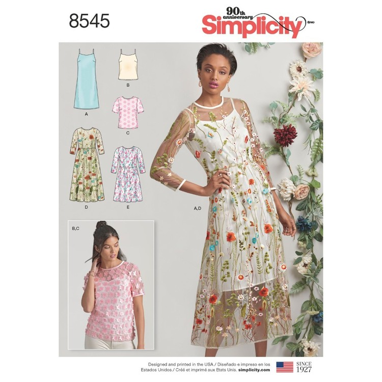 Simplicity Pattern 8545 Misses' And Miss Petite Dress And Top