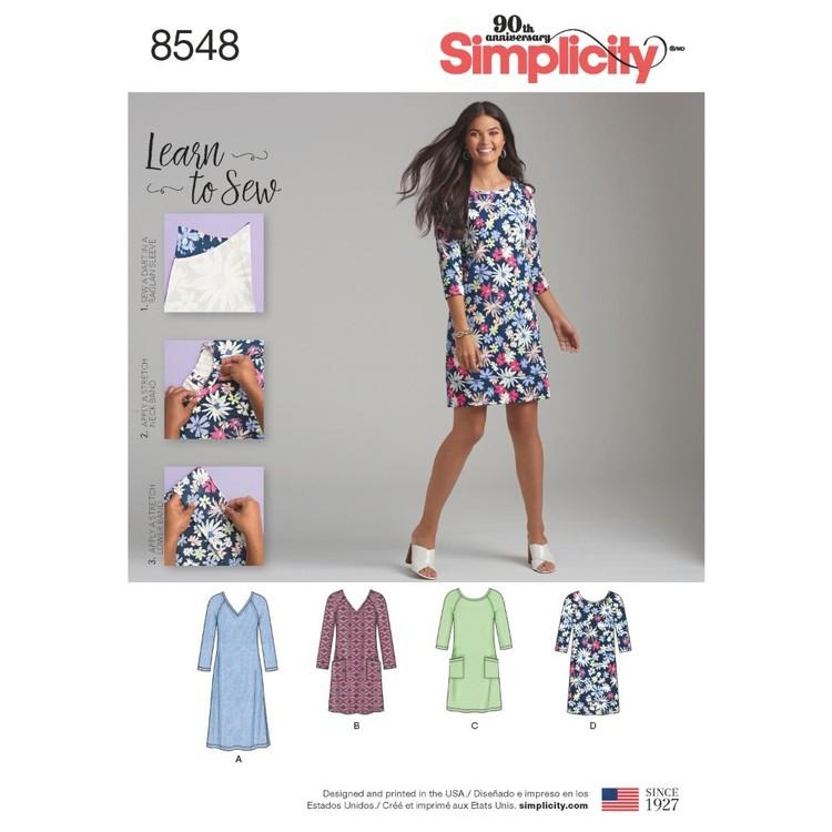 Simplicity Pattern 8548 Misses' Knit Dress