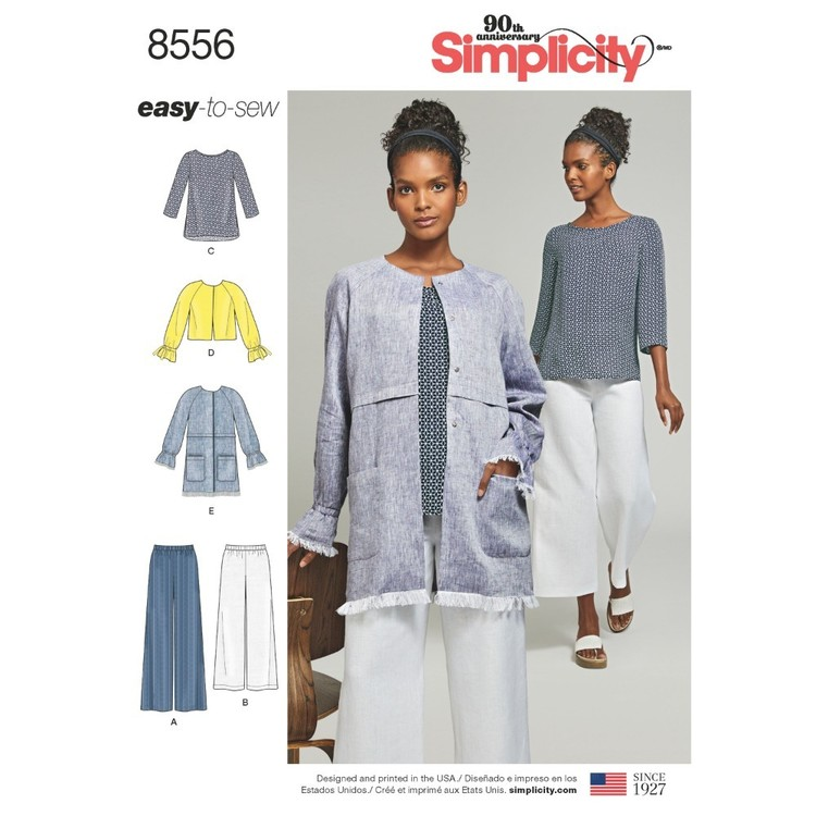 Simplicity Pattern 8556 Misses' Easy To Sew Separates