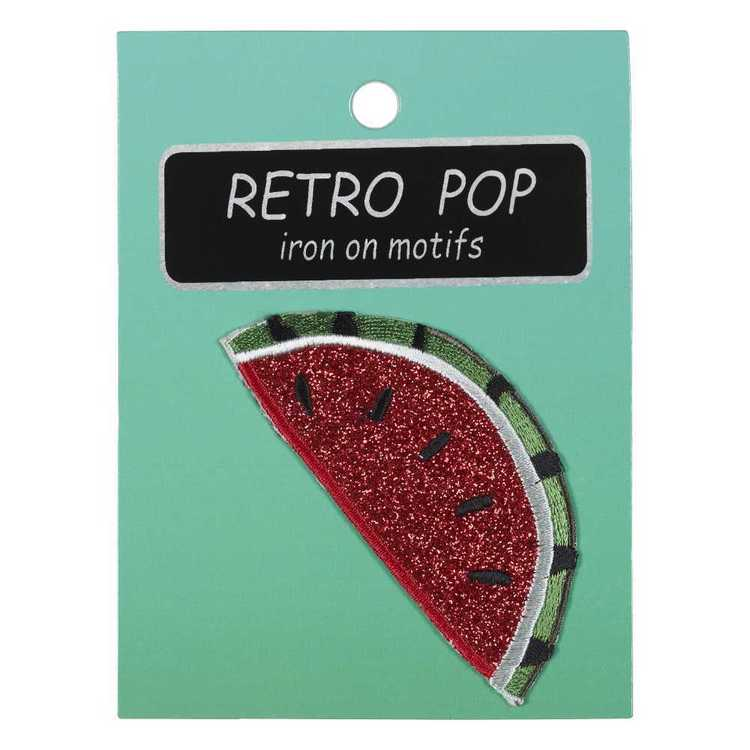 Iron On Motif Watermelon Red & Green