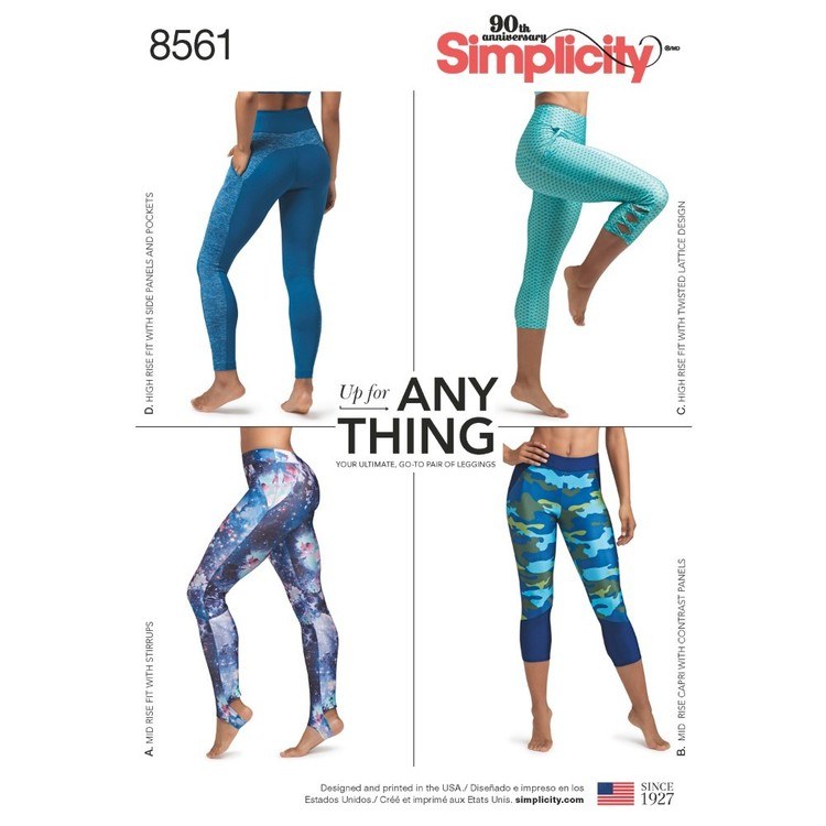 Simplicity Pattern 8561 Misses' And Women's Leggings