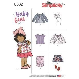 Simplicity Pattern 8562 Baby Gear Separates