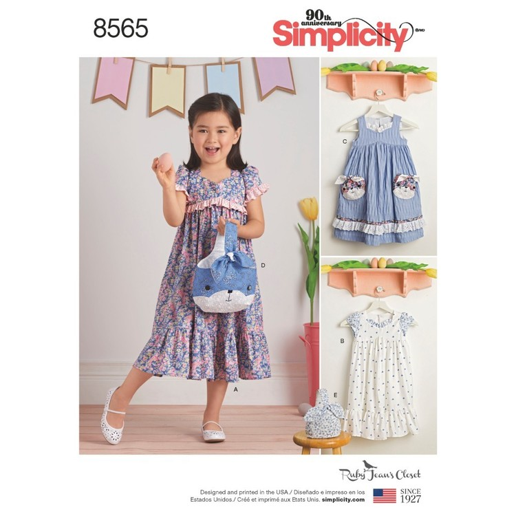 Simplicity Pattern 8565 Child's Dresses and Purses from Ruby Jean's Closet