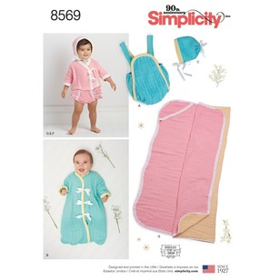 Simplicity Pattern 8569 Baby Separates And Blanket