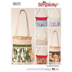 Simplicity Pattern 8572 Changeable Cover Bags