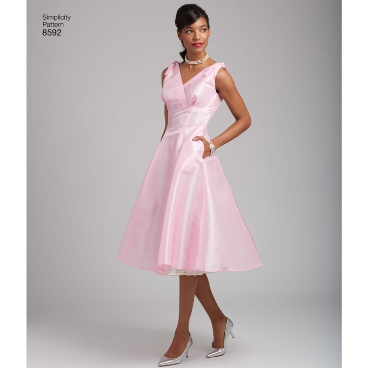 Simplicity Pattern 8592 Misses And Women S Vintage Dress
