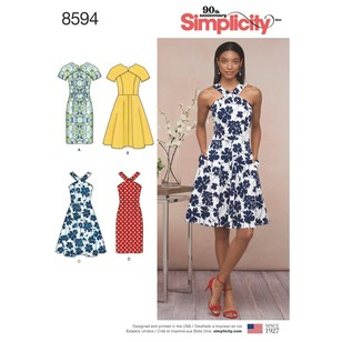 Simplicity Pattern 8594 Misses' And Petites' Dresses
