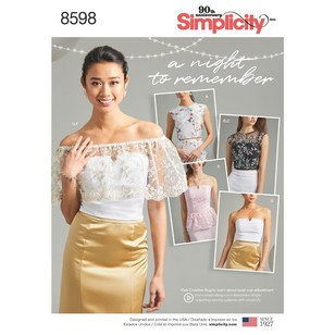 Simplicity Pattern 8598 Misses' And Women's Special Occasion Tops