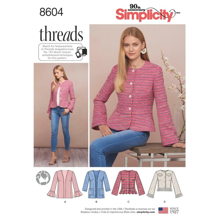 Simplicity Pattern 8604 Misses' And Petites' Jacket