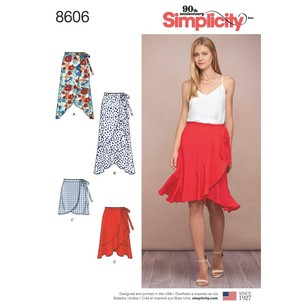 Simplicity Pattern 8606 Misses' Wrap Skirt In Four Lengths
