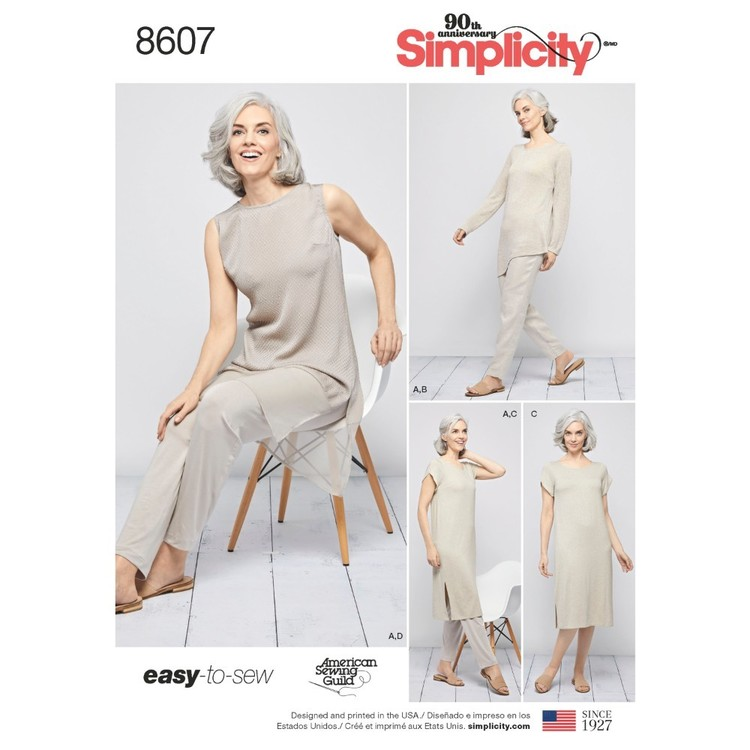 Simplicity Pattern 8607 Misses' Easy To Sew Sportswear