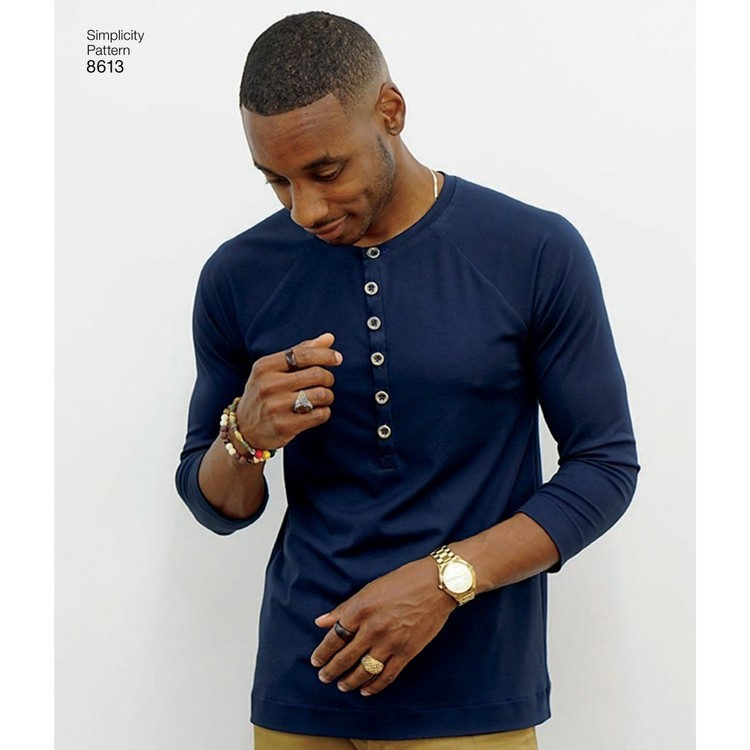 Simplicity Pattern 8613 Men's Knit Top By Mimi G Style