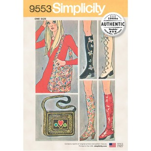 Simplicity Pattern 9553 One Size Spats And Two Bags