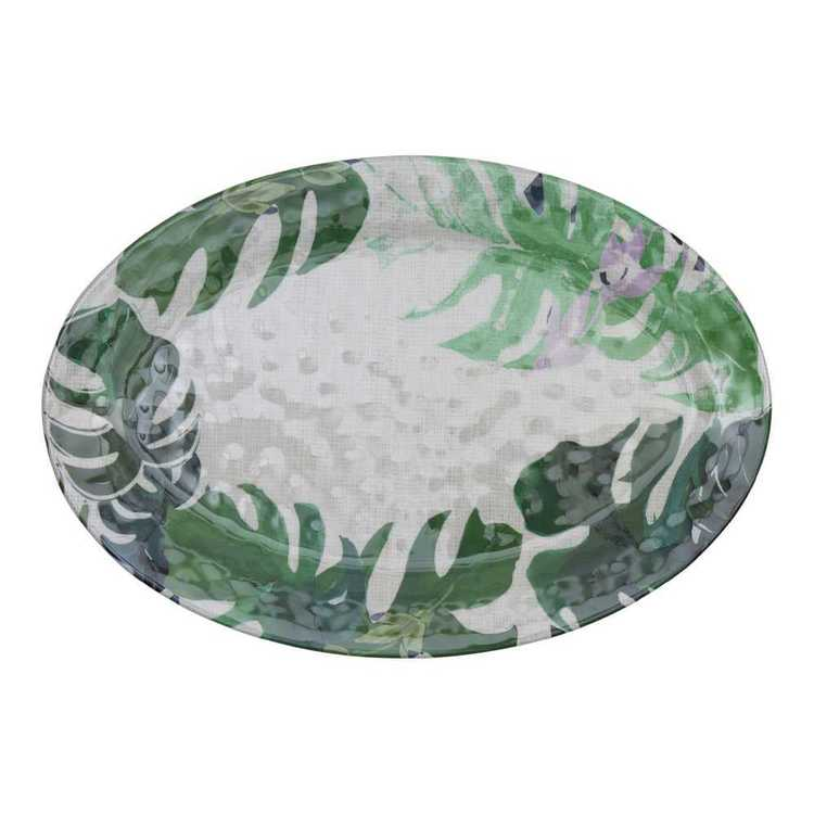 Culinary Co Melamine Oval Serving Bowl Leaf Green