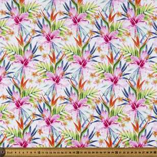 Printed Rayon Hibiscus Fabric