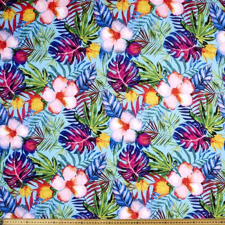 Printed Rayon Pretty Paradise Fabric