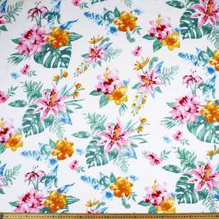Printed Rayon Tropical Delight Fabric