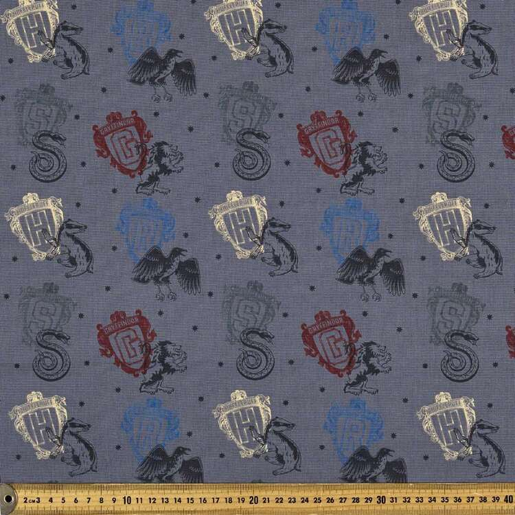 Harry Potter House Icons Homespun Fabric