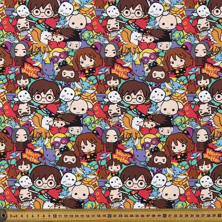 Harry Potter Comic Printed Poplin Fabric