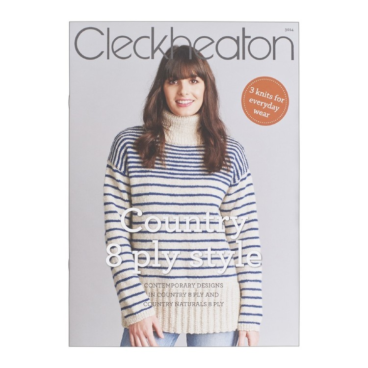 Cleckheaton Country 8 Ply Style 3014 Pattern Book