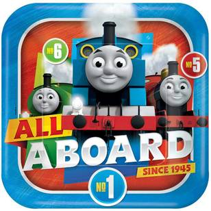 All Aboard Thomas Square Plates