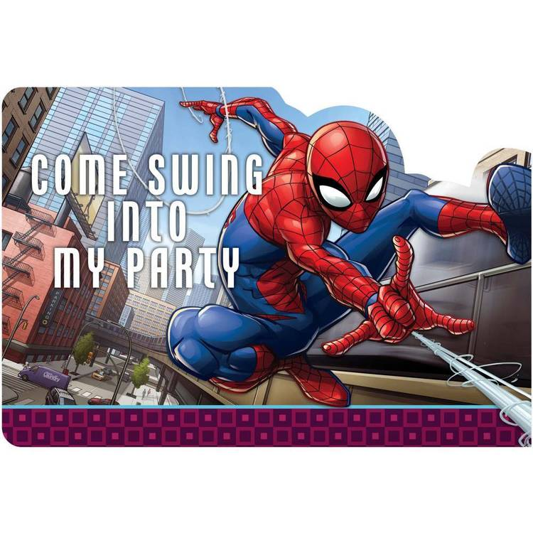 Spider-Man Webbed Wonder Postcard Invitations Multicoloured