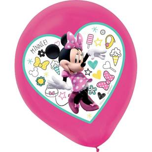 Minnie Mouse Happy Helpers Latex Balloons