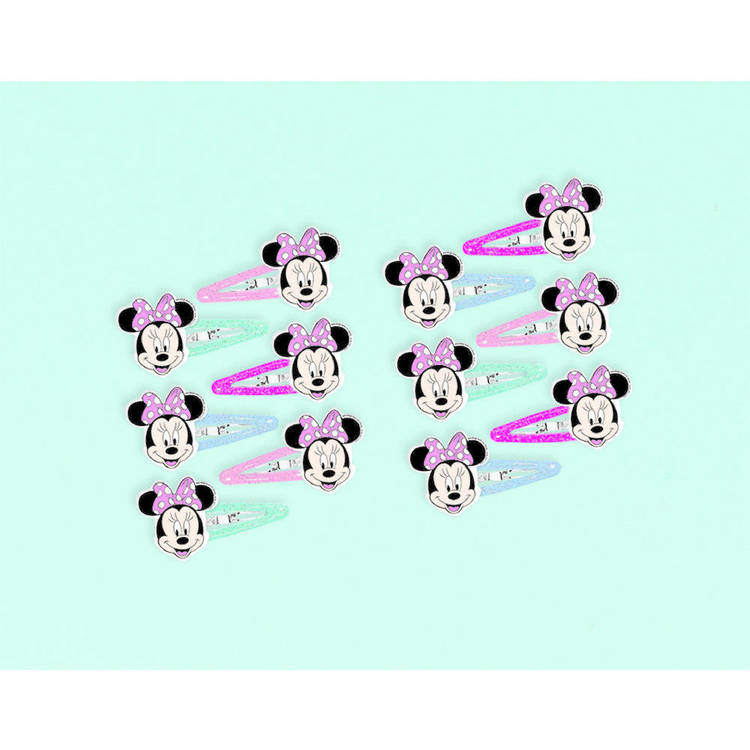 Minnie Mouse Helpers Bow Hair Clips 12 Pack