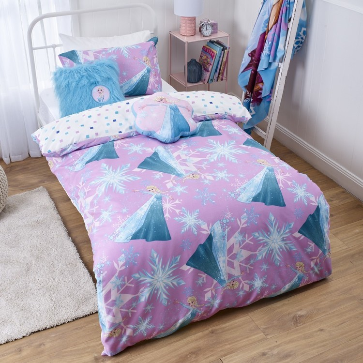 Frozen Let It Go Quilt Cover Set Purple Single