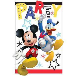 Mickey on the Go Postcard Invitations