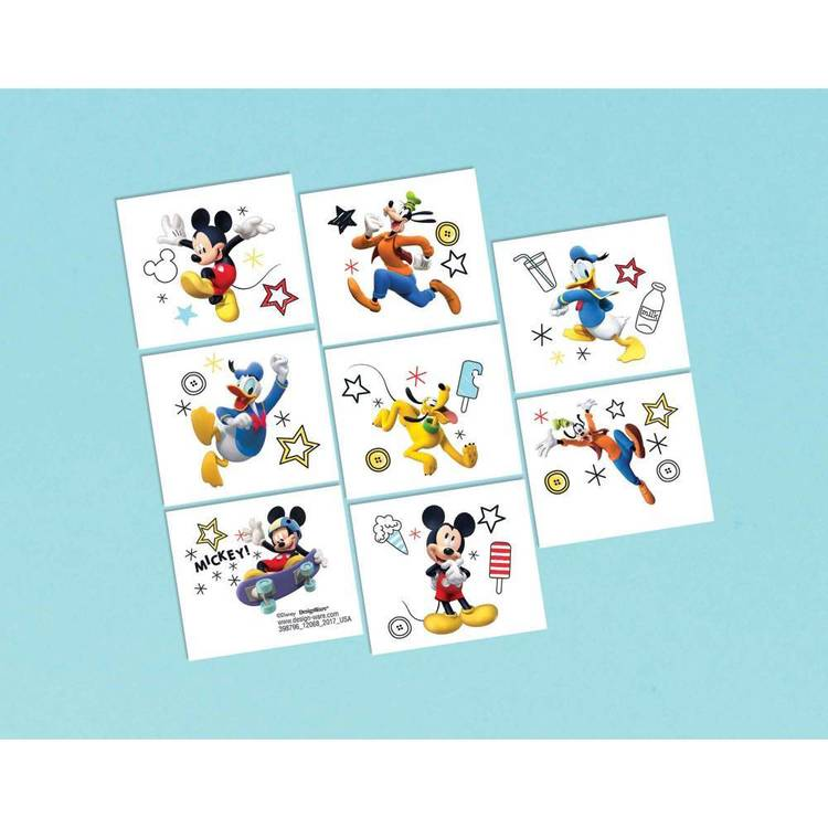 Mickey on the Go Tattoo Favors