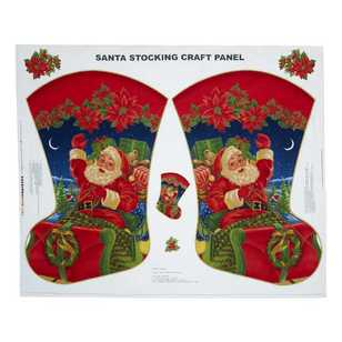 Christmas Santa Stocking Panel