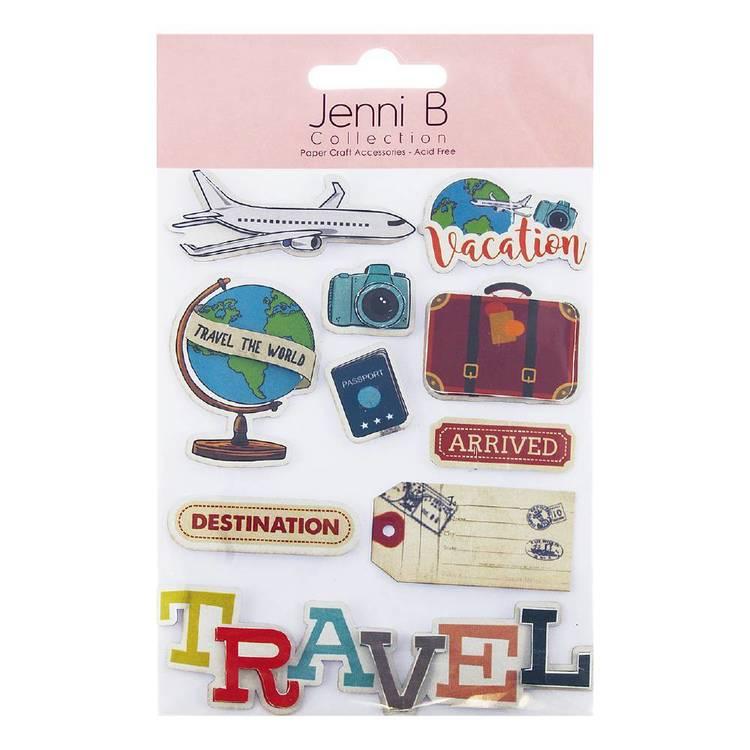 Jenni B Travel Stickers