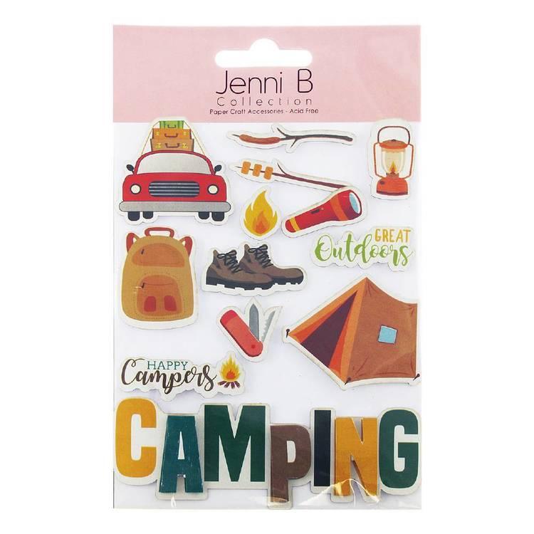 Jenni B Camping Stickers