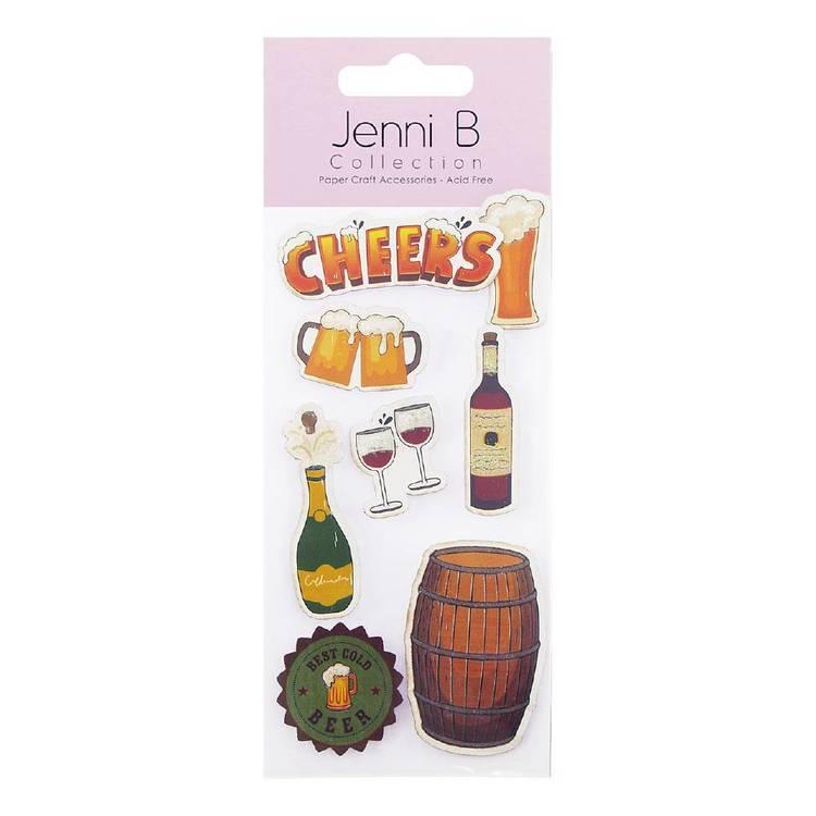 Jenni B Drinks Stickers