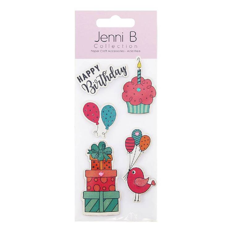 Jenni B Happy Birthday Cupcake Stickers