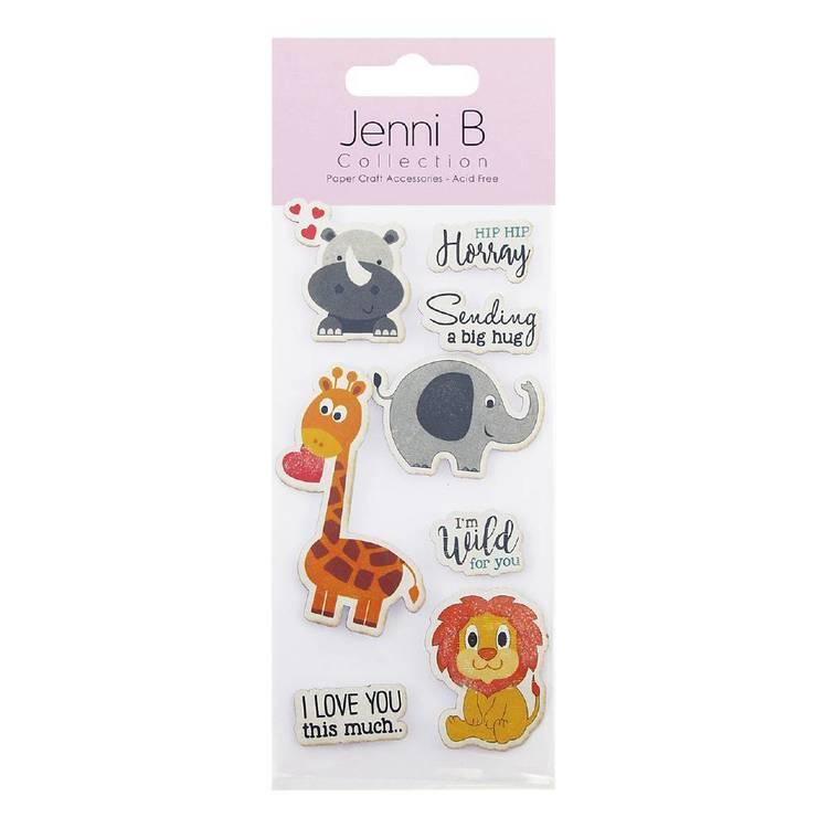 Jenni B Zoo Animal Stickers