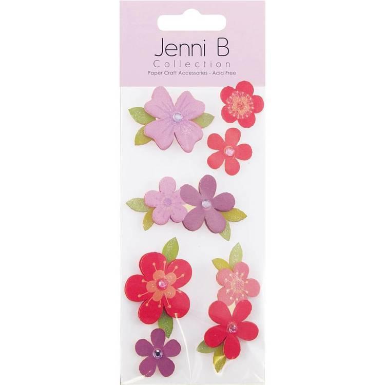 Jenni B Pink and Purple Flower Stickers